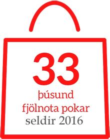 33 þúsund fjölnota pokar seldir 2016